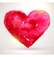 Watercolor Love Heart vector image