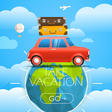 Vacation travelling concept travel with a r vector image vector image