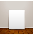 Blank frame paper sheet on wall background and vector image