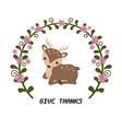 card with deer card with deer vector image