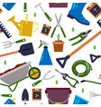 different tools for gardening seamless vector image