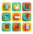 House Interior Furniture Icons vector image
