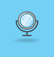 icon of make up mirror isolated vector image