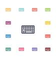 keyboard flat icons set vector image