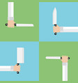 kitchen knives modern flat set vector image