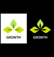 logo company engaged in the cultivation of plants vector image