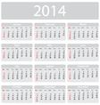 Minimalistic 2014 calendar vector image
