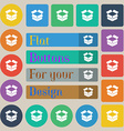 Open box icon sign Set of twenty colored flat vector image