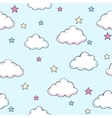 pattern with clouds vector image