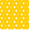 Seamless light bulbs pattern on yellow background vector image