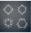 Set of outline monogram 02 vector image