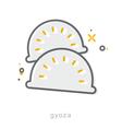 Thin line icons Gyoza vector image