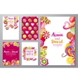 save the date backgrounds with candies vector image