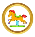 Horse spring see saw icon vector image