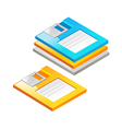 icon floppy disk vector image vector image
