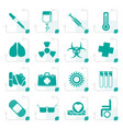 stylized collection of medical themed icons vector image vector image