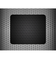 grunge metallic mesh background with black panel vector image vector image
