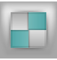 business four squares turquoise vector image vector image