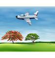 An airplane flying in the sky vector image