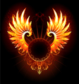 Banner with Wings Phoenix vector image