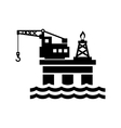 Oil Platform for Logo and Icon vector image