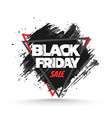 black friday sale background banner template vector image