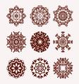 ethnic mandalas decorative elements vector image