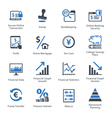 Finance Icons Set 3 - Blue Series vector image