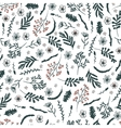Seamless floral pattern on white background vector image