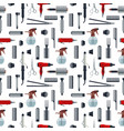 seamless pattern of hairdresser objects in flat vector image
