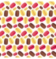 Seamless pattern with tasty macaroons vector image