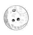 sketch of a bowling ball vector image