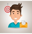 man message document icon vector image