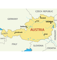 map of Austria - vector image vector image