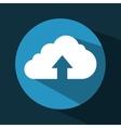 arrow upload data icon vector image