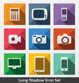 Digital Long Shadow Icons vector image vector image