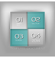 business four squares turquoise with text vector image vector image