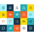 Social and communication icons Flat vector image