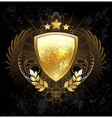 Golden Shield vector image