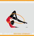 Athlete rhytmic gymnast vector image vector image