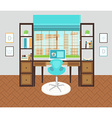 Interior office area vector image