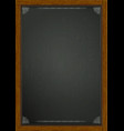 black board in wooden frame a4 vector image
