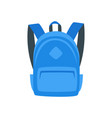 blue backpack vector image
