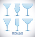 cristal glass design vector image
