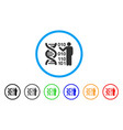 dna research rounded icon vector image