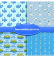 For sea seamless patterns vector image