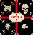 skulls patterns set vector image