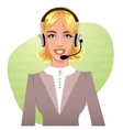 Young woman a call operator eps10 vector image
