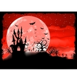 Halloween poster with zombie background EPS 8 vector image vector image