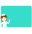 nurse explains at the blank board vector image